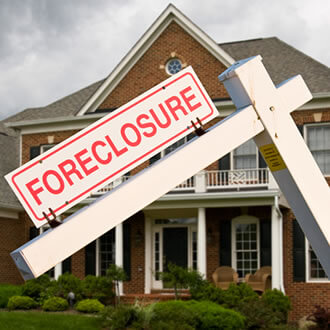 photo of a foreclosure sign